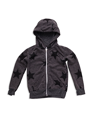 Nununu Boys' Star Print Zip Hoodie - Sizes 2-9