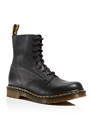 The \\\'90s are back in full force with this beloved Dr. Marten\\\'s combat boot, a mainstay for the grunge movement in soft leather with classic lug soles.