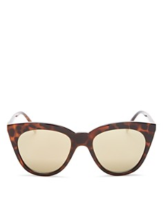 Le Specs - Women's Halfmoon Magic Mirrored Cat Eye Sunglasses, 53mm