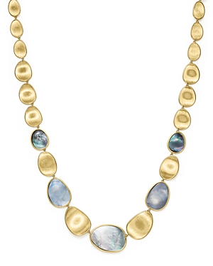 Marco Bicego 18K Yellow Gold Lunaria Black Mother-Of-Pearl Necklace, 18 - 100% Exclusive