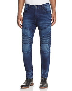 True Religion Rocco Moto Active Slim Fit Jeans in Indigo Well