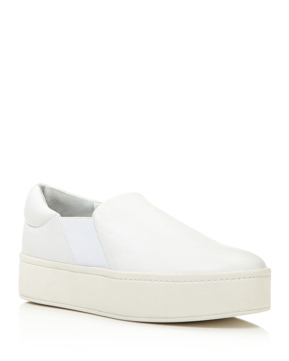 Vince Warren Leather Platform Slip-On Sneakers