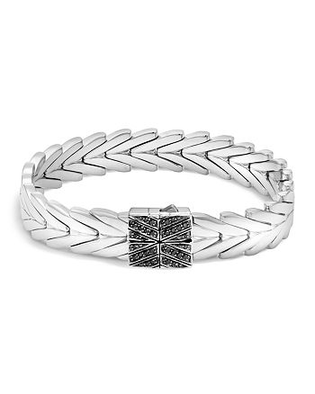 JOHN HARDY - Sterling Silver Modern Chain Bracelet with Black Sapphire and Black Spinel