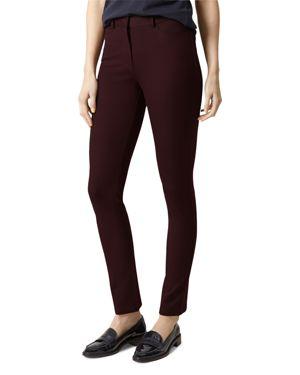 Hobbs London Amanda Jeans in Dark Plum 1757733