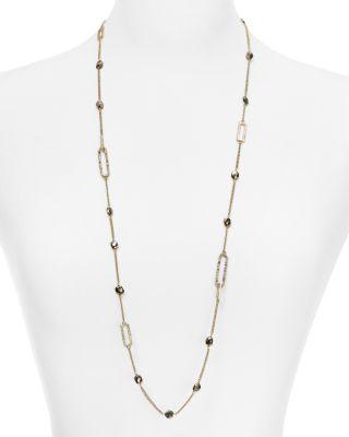 Alexis Bittar Crystal Encrusted Link Necklace w/ Pyrite Y0eubOXAqn
