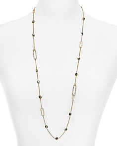 """Alexis Bittar - Crystal Encrusted Chain Necklace, 30"""""""