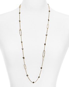 Alexis Bittar - Crystal Encrusted Chain Necklace, 30""
