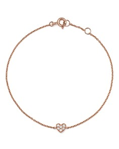 Bloomingdale's - Mini Diamond Heart Bracelet in 14K Rose Gold, .07 ct. t.w.  - 100% Exclusive