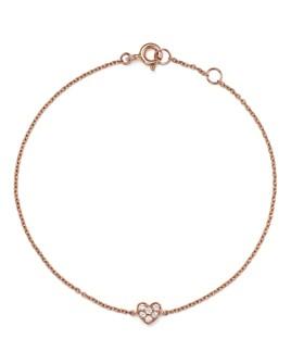 Bloomingdale's - Mini Diamond Heart Bracelet in 14K Rose Gold, .07 ct. t.w. - 100% Exclusive
