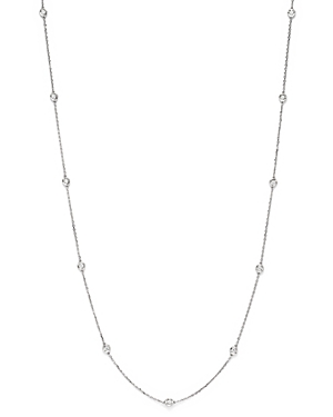 Diamond Station Long Necklace in 14K White Gold, 1.0 ct. t.w. - 100% Exclusive