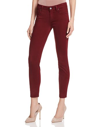 PAIGE - Verdugo Skinny Ankle Jeans in Deep Syrah