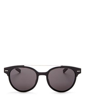 Dior Homme - Men's Black Tie Pantos Round Sunglasses, 50mm