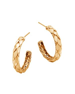 John Hardy 18K Yellow Gold Legends Cobra Small Hoop Earrings