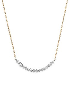 Bloomingdale's - Diamond Scatter Necklace in 14K Yellow and White Gold, .50 ct. t.w. - 100% Exclusive