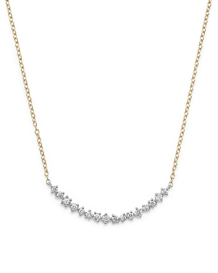 Bloomingdale's - Diamond Scatter Necklace in 14K Yellow and White Gold, .50 ct. t.w.- 100% Exclusive