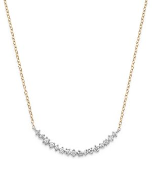 Diamond Scatter Necklace in 14K Yellow and White Gold, .50 ct. t.w.