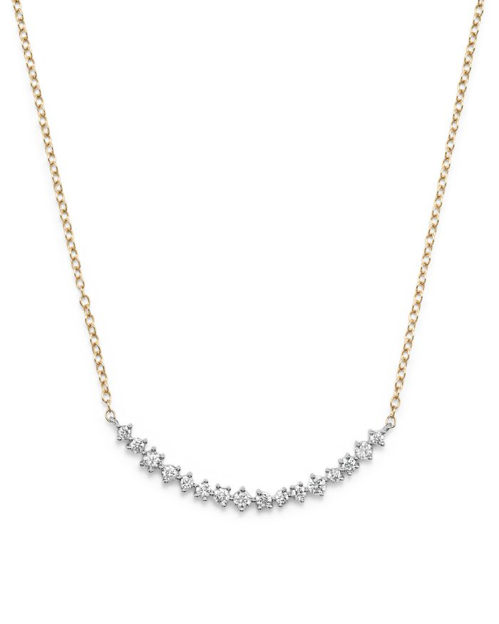 Bloomingdale's Diamond Scatter Necklace in 14K Yellow and White Gold, .50 ct. t.w.    Bloomingdale's