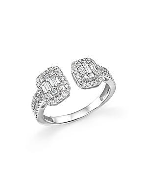 Diamond Baguette and Round Ring in 14K White Gold, .75 ct. t.w. - 100% Exclusive