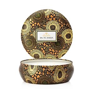 Voluspa Japonica Baltic Amber 3 Wick Candle in Decorative Tin