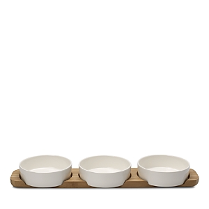 Villeroy & Boch Pizza Passion 4-Piece Topping Bowl and Tray Set