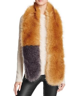 Aqua Faux Fur Stole Scarf- 100% Exclusive