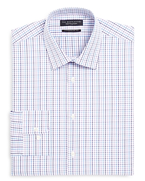 The Men's Store at Bloomingdale's Check Multi Overcheck Regular Fit Dress Shirt