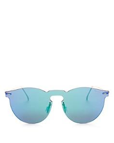 Illesteva - Women's Leonard Mirrored Shield Sunglasses, 55mm