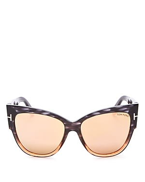 Tom Ford Anoushka Mirrored Cat Eye Sunglasses, 55mm