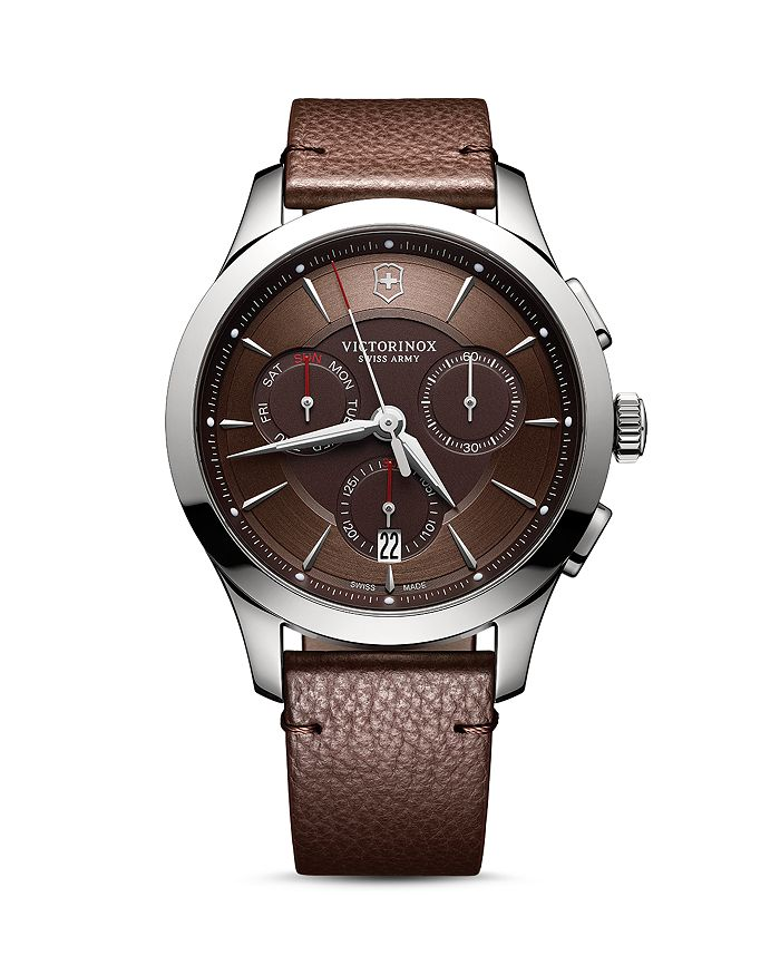 Victorinox Swiss Army Strap Chronograph, 44mm In Brown