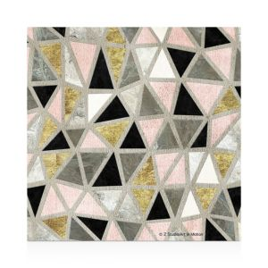 Thirstystone Marbled Geometric Blush Coasters, Set of 4