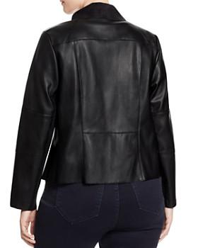 Bagatelle Plus - Draped Faux Leather Jacket