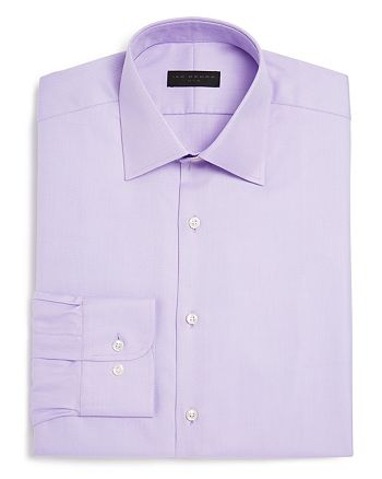 Ike Behar - Twill Solid Regular Fit Dress Shirt