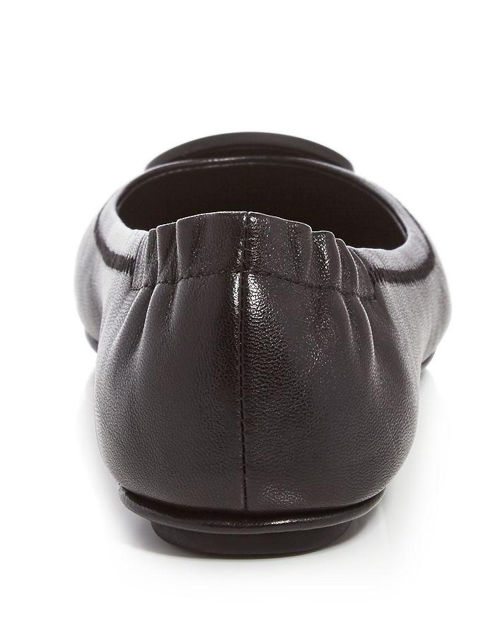 e58a7481424 Tory Burch Women s Minnie Leather Travel Ballet Flats