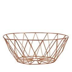 Bloomingville Round Metal Basket, Copper - Bloomingdale's Registry_0