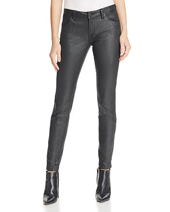 Burberry - Coated Skinny Jeans in Black