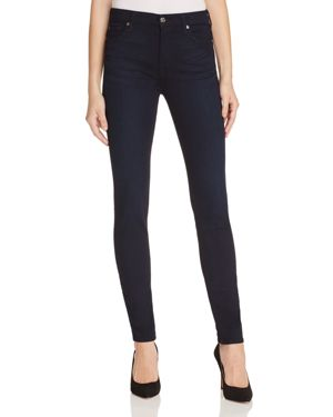 7 For All Mankind b(air) High Waisted Skinny Jeans in Navy