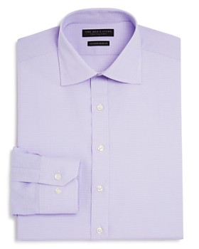 The Men's Store at Bloomingdale's - Textured Check Regular Fit Basic Dress Shirt - 100% Exclusive