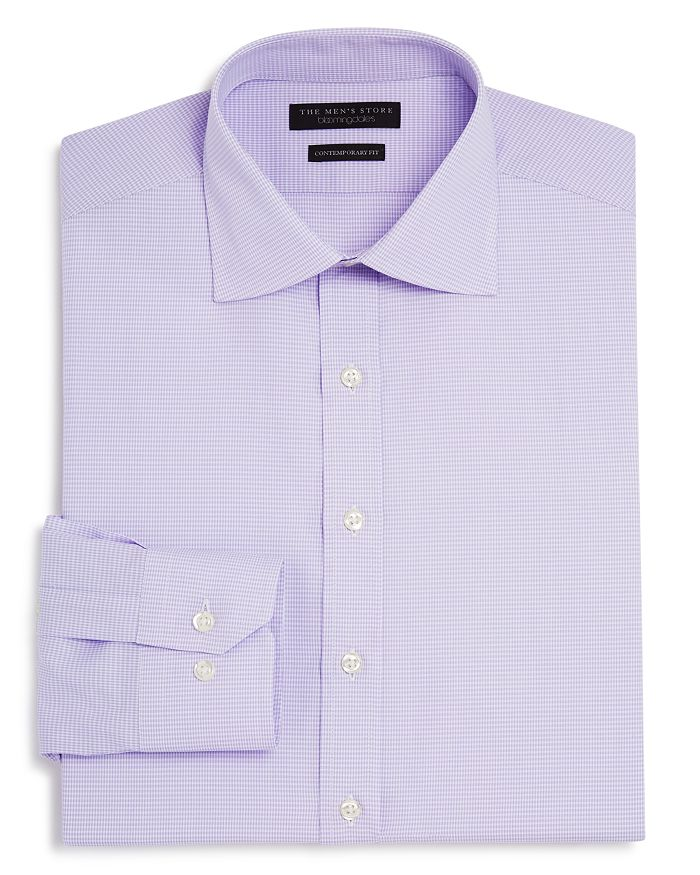 The Men's Store at Bloomingdale's - Textured Check Regular Fit Basic Dress Shirt- 100% Exclusive