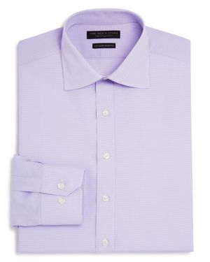 The Men's Store at Bloomingdale's Textured Check Regular Fit Basic Dress Shirt - 100% Exclusive