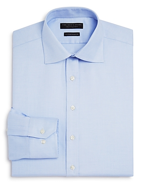 The Men's Store at Bloomingdale's Textured Solid Regular Fit Dress Shirt
