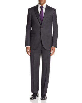 JACK VICTOR Basic Regular Fit Suit in Charcoal