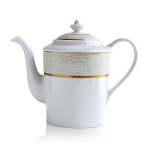 Bernardaud Sauvage White Coffee Pot