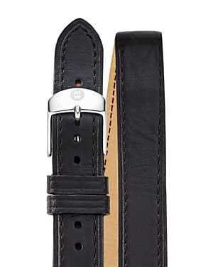 Michele Double Wrap Leather Watch Strap, 18mm