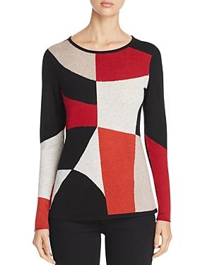 Nic+Zoe Rubied Geometric Pattern Sweater