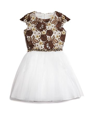 David Charles - Girls' Floral Dress - Big Kid