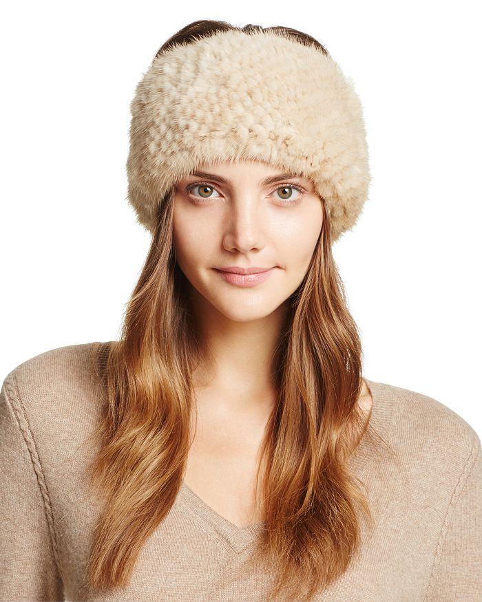 Maximilian Furs - Knit Mink Fur Headband - 100% Exclusive