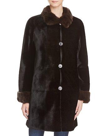 Maximilian Furs - x Trilogy Reversible Sheared Mink Fur Coat - 100% Exclusive
