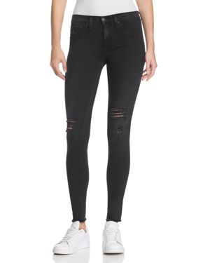 rag & bone/Jean Distressed Skinny Jeans in Night with Holes