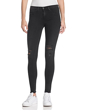 rag & bone/Jean Legging Jeans in Night with Holes
