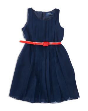 Ralph Lauren Childrenswear Girls' Pleated Georgette Dress - Little Kid thumbnail
